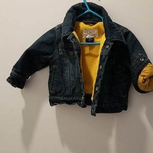 Fleece lined jean jacket 6 to 9 month